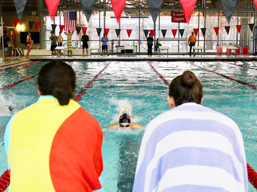 Saints Swimming Beats Sanford, Finishes Regular Season Undefeated in Conference