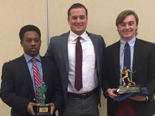 Seniors Recognized at Delaware Interscholastic Football Coaches Banquet
