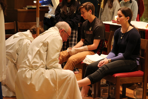 Maundy Thursday Celebrated in Chapel
