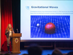 Students Explore Gravitational Waves, Nanomaterials, Stress, and More During Science Lecture Night