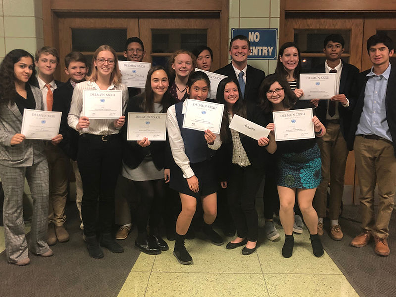 Saints Stand Out at DELMUN Conference