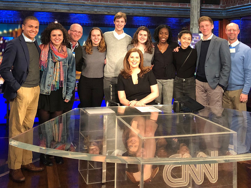 Students Take a Studio Visit with CNN's Erin Burnett '94